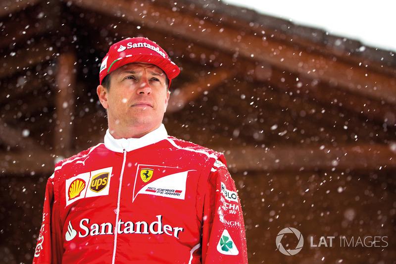 Kimi Raikkonen in the snow