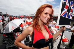 Grid girl for Lewis Hamilton, McLaren