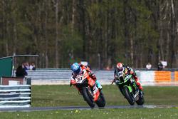 Marco Melandri, Aruba.it Racing-Ducati SBK Team, Tom Sykes, Kawasaki Racing
