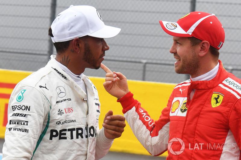 Lewis Hamilton, Mercedes AMG F1, Sebastian Vettel, Ferrari