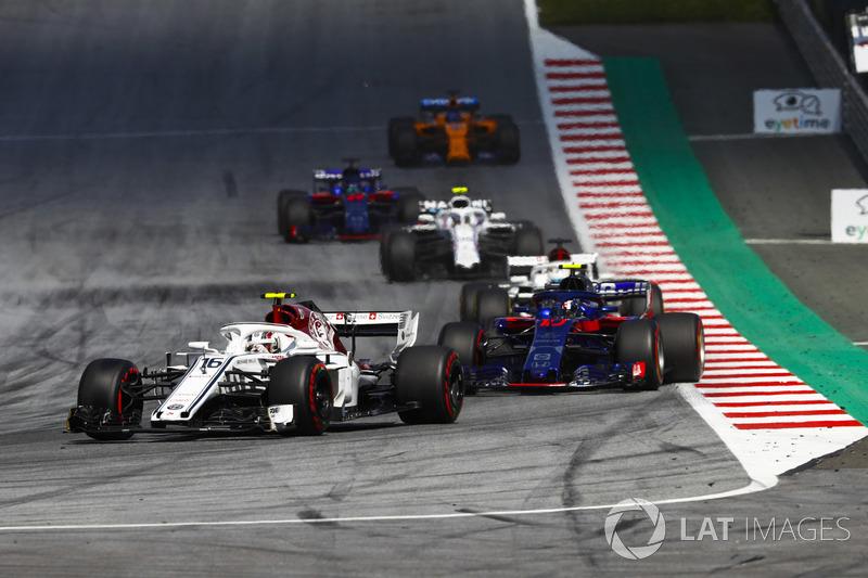 Charles Leclerc, Sauber C37, Pierre Gasly, Toro Rosso STR13, Lance Stroll, Williams FW41, Sergey Sirotkin, Williams FW41