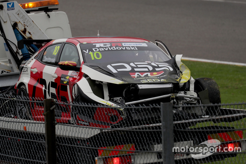 The car of Viktor Davidovski, PSS Racing Team Honda Civic Type R TCR