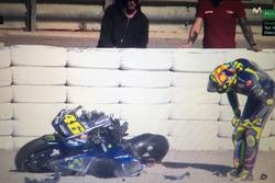 Valentino Rossi caída