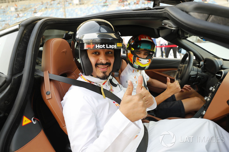 In car for the F1 Pirelli Hot Laps experience