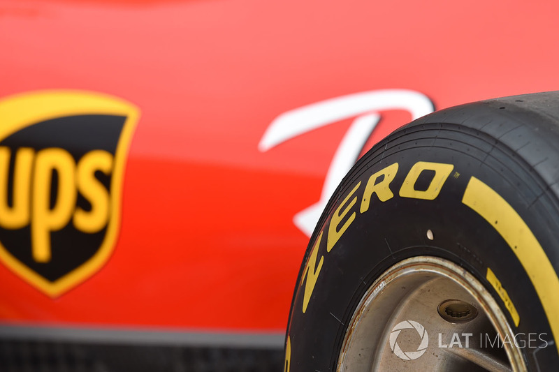 Ferrari and Pirelli tyre