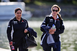 Monisha Kaltenborn, Sauber Team Principal (Left)