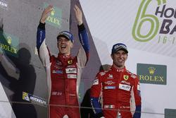 Podium LMGTE Pro: tweede plaats James Calado, Alessandro Pier Guidi, AF Corse