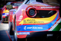 Detalle trasero del #51 AF Corse Ferrari 488 GTE