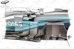 Бічний дефлектор Mercedes F1 W08