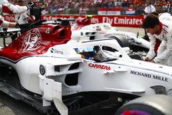 Marcus Ericsson, Sauber, on the grid