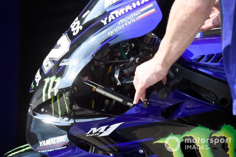 Dettaglio di una M1 Yamaha Factory Racing