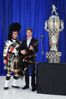 Will Power Borg Warner Trophy unveiling
