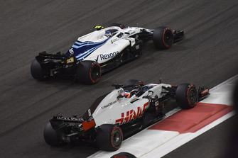 Romain Grosjean, Haas F1 Team VF-18 lotta con Sergey Sirotkin, Williams FW41