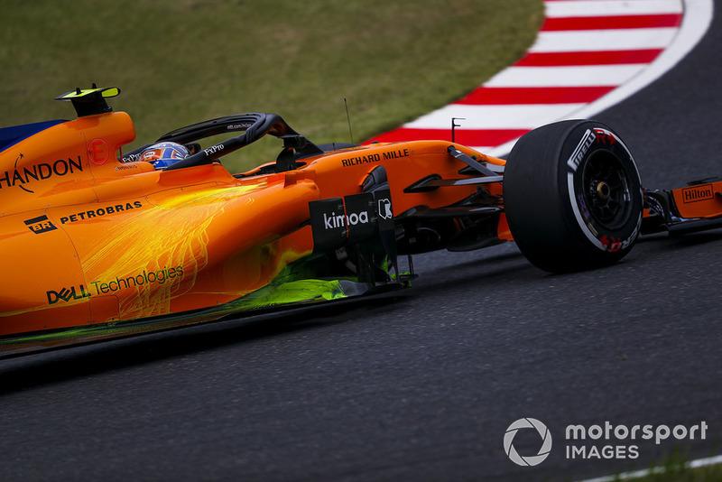 Lando Norris, McLaren con parafina en el MCL33
