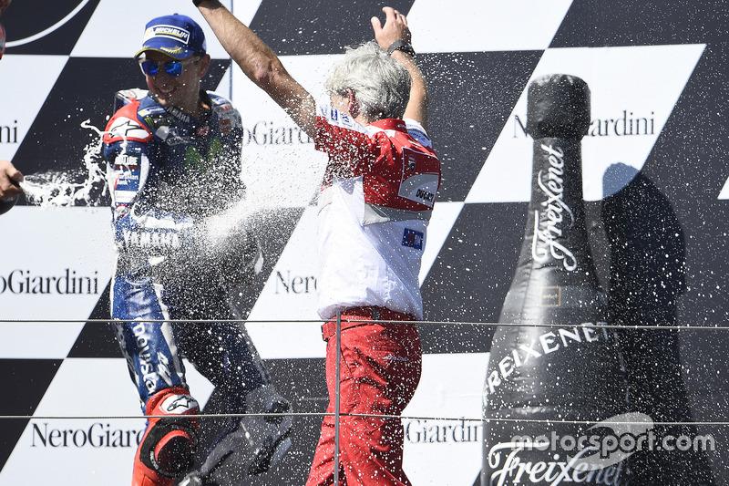 Gigi Dall'Igna, General Manager Ducati Corse, Jorge Lorenzo, Yamaha Factory Racing