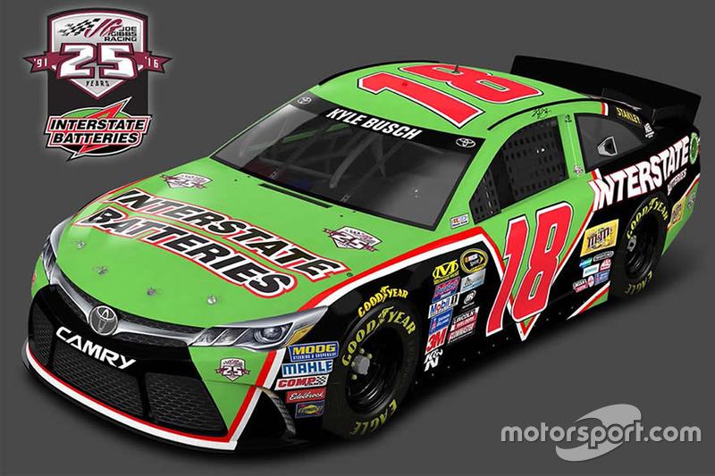Kyle Busch, Joe Gibbs Racing Toyota, livrea speciale