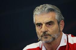 Maurizio Arrivabene, director Ferrari Team en la Conferencia de prensa FIA