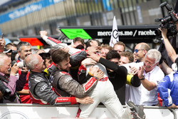 Race winner Jamie Green, Audi Sport Team Rosberg, Audi RS 5 DTM celebrate with the team