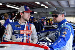 Ryan Blaney, Wood Brothers Racing Ford and Ricky Stenhouse Jr., Roush Fenway Racing Ford
