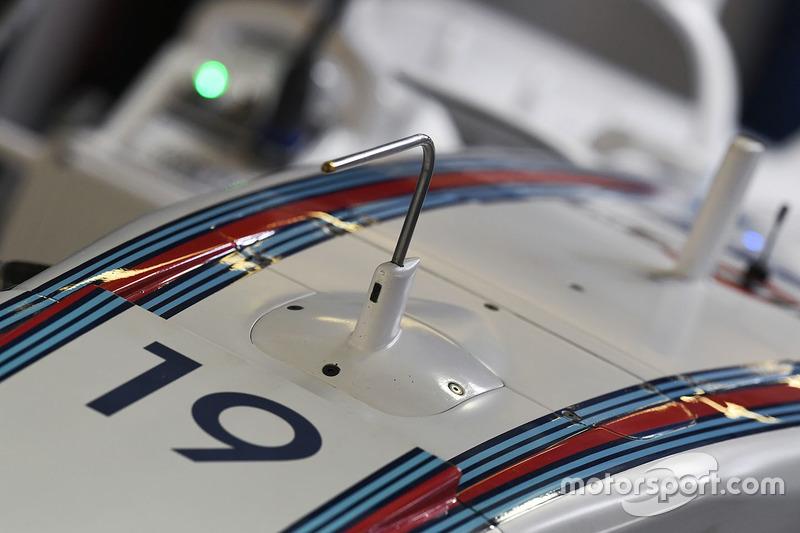 Détail du nez de la Williams FW40