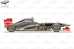 Lotus Renault R31 side view, launch car