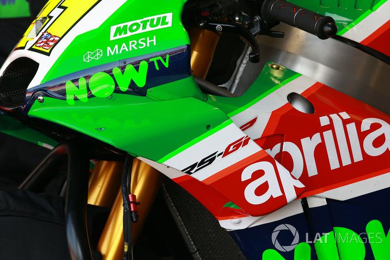 Aleix Espargaro, Aprilia Racing Team Gresini fairing detail