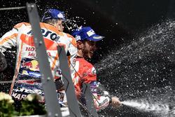 1. Andrea Dovizioso, Ducati Team; 2. Marc Marquez, Repsol Honda Team