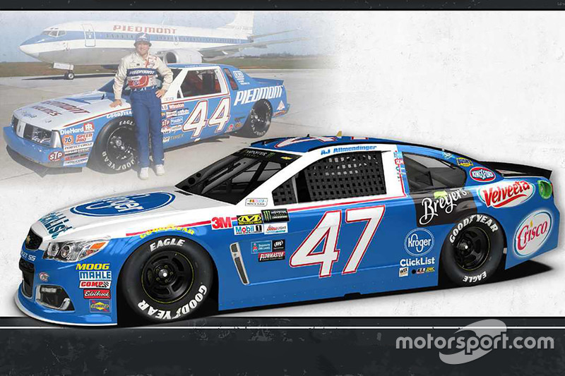 Throwback-Design: A.J. Allmendinger, JTG Daugherty Racing Chevrolet