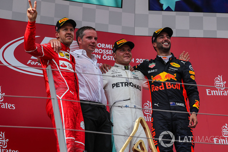 2017: 1.Valtteri Bottas, 2.Sebastian Vettel, 3.Daniel Ricciardo