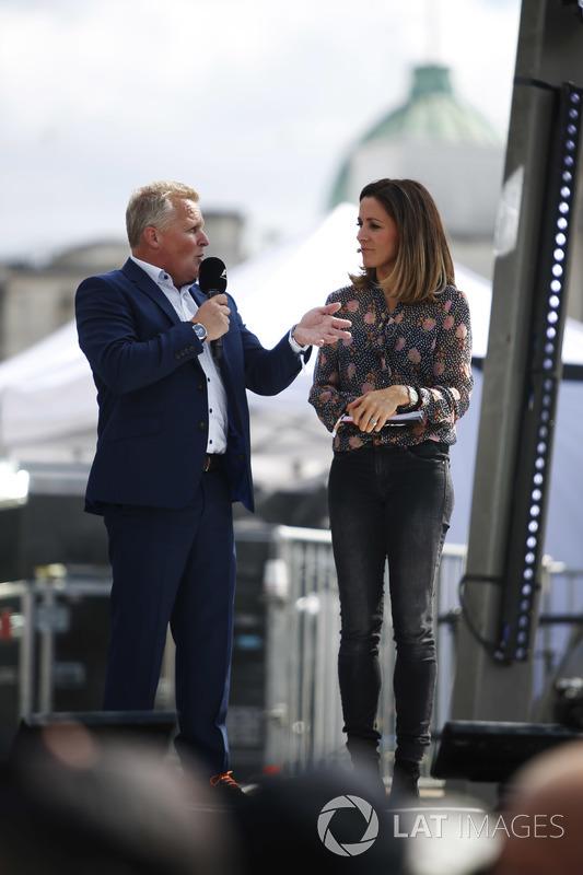 Johnny Herbert, Sky Sports F1; Natalie Pinkham, Sky Sports F1