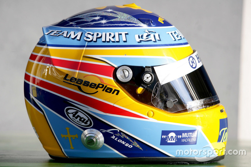 Casque de Fernando Alonso, Renault