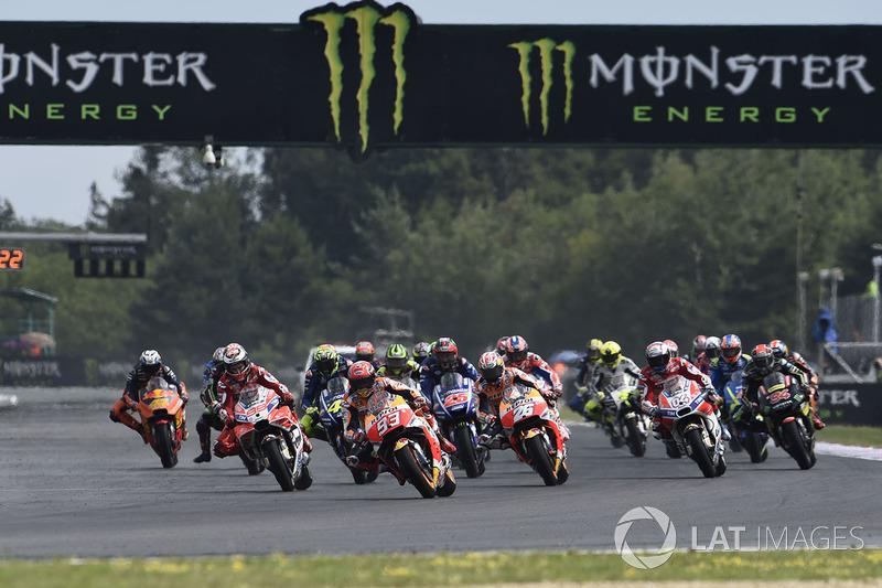 Марк Маркес, Repsol Honda Team, на старті гонки