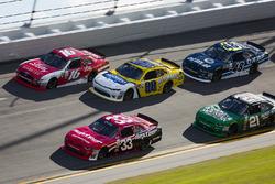 Brandon Jones, Richard Childress Racing, Chevrolet; Ryan Reed, Roush Fenway Racing, Ford; Kasey Kahne, JR Motorsports, Chevrolet
