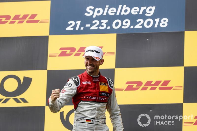 Podium: Race winner René Rast, Audi Sport Team Rosberg