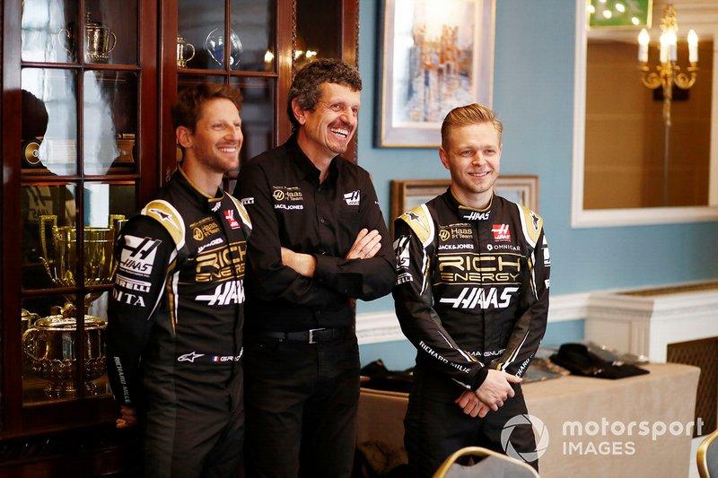 Ромен Грожан, Haas F1 Team, Кевін Магнуссен, Haas F1 Team, керівник Haas F1 Гюнтер Штайнер