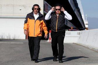 Zak Brown, McLaren Racing CEO and Sheikh Mohammed bin Essa Al Khalifa, CEO of the Bahrain Economic Development Board and McLaren Shareholder