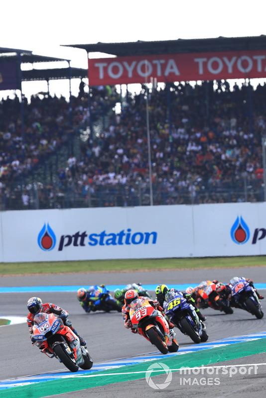 Dovizioso.Marc Marquez, Repsol Honda Team, Valentino Rossi, Yamaha Factory Racing