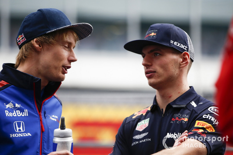 Brendon Hartley, Scuderia Toro Rosso y Max Verstappen, Red Bull Racing