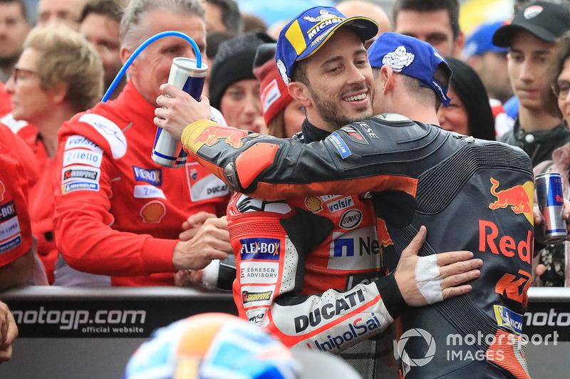 Ganador, Andrea Dovizioso, Ducati Team, tercero, Pol Espargaro, Red Bull KTM Factory Racing