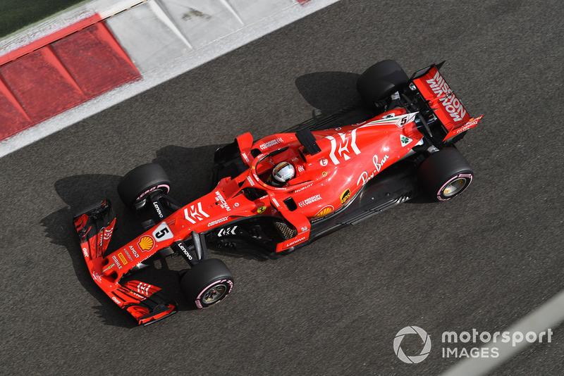 Ferrari SF71H на тестах в Абу-Даби