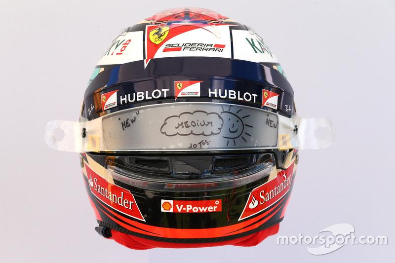Casco de Kimi Räikkönen, Ferrari