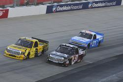 Cody Coughlin, ThorSport Racing Toyota, Harrison Burton, Kyle Busch Motorsports Toyota, Johnny Saute