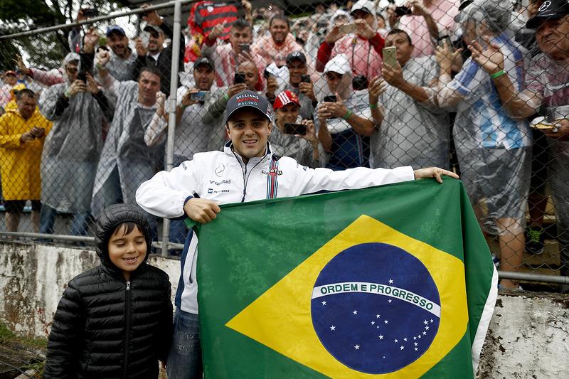 Felipe Massa, Williams, y su hijo Felipinho