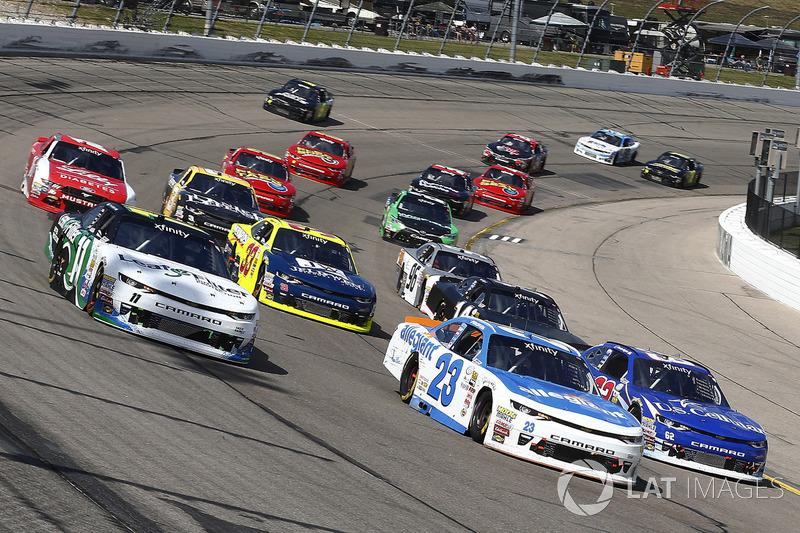 Blake Koch, Kaulig Racing Chevrolet, Spencer Gallagher, GMS Racing Chevrolet, Brendan Gaughan, Richa