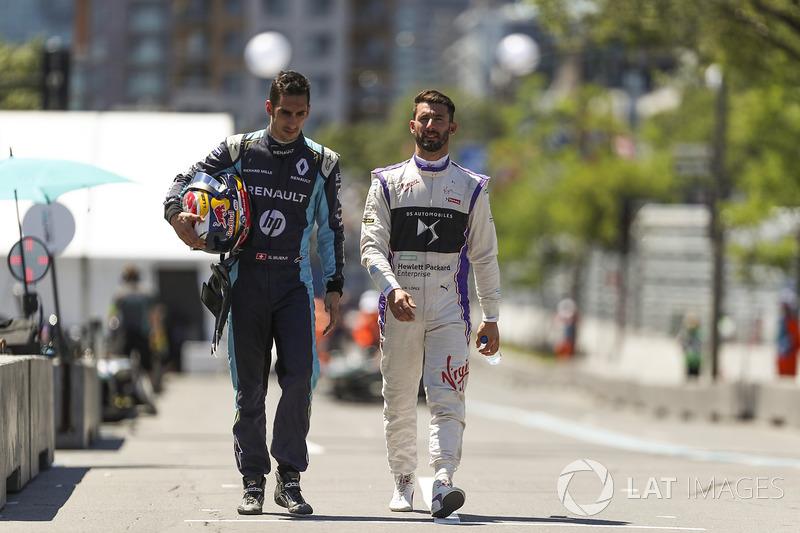 Sébastien Buemi, Renault e.Dams, y Jose Maria Lopez, DS Virgin Racing