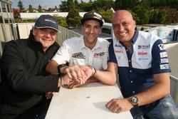 Xavier Simeon, Avintia Racing, Freddy Tacheny, CEO Zelos, Raúl Romero, CEO Esponsorama