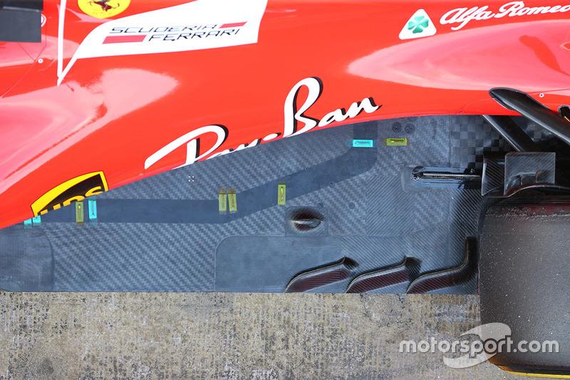 Ferrari SF70H, sensori termici