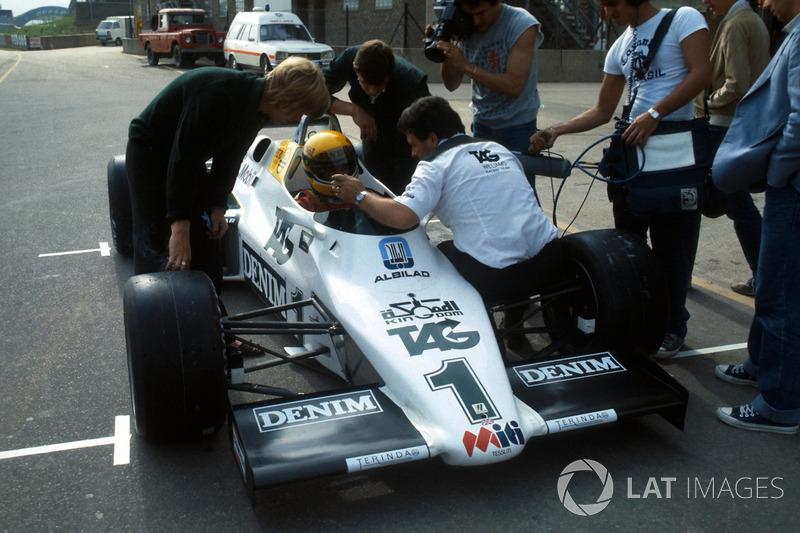 Ayrton Senna vor seinem 1. Formel-1-Test