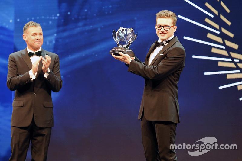 Tom Kristensen mit dem Rookie des Jahres: Kevin Hansen, Peugeot Hansen Academy