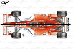 Ferrari F2003-GA (654) 2003 bargeboard comparison with F2002